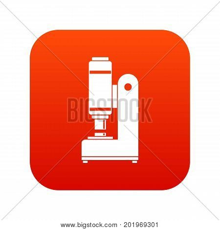 Blacksmith automatic hammer icon digital red for any design isolated on white vector illustration