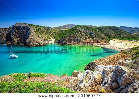 Cala Domestica Beach, Sardinia, Italy.