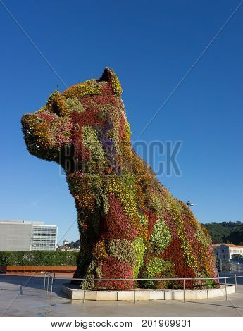 The Flower Dog in Bilbao, Spain
