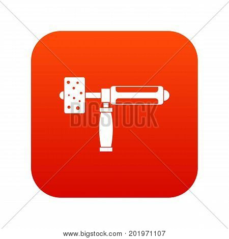 Precision grinding machine icon digital red for any design isolated on white vector illustration