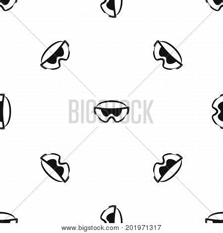 Safety glasses pattern repeat seamless in black color for any design. Vector geometric illustration