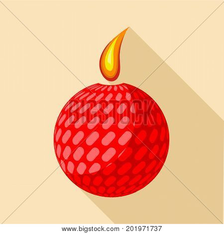Ball candle icon. Flat illustration of ball candle vector icon for web