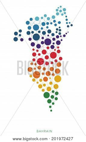 dotted texture Bahrain vector rainbow colorful background