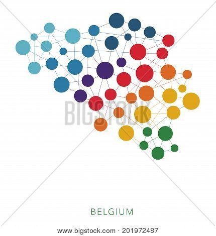 dotted texture Belgium vector rainbow colorful background
