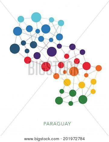 dotted texture Paraguay vector rainbow colorful background