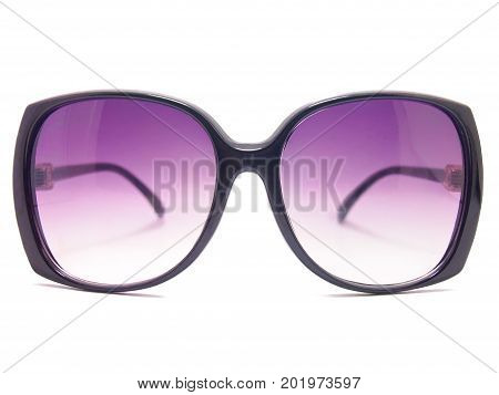 Sunglasses . Isolated on white background .