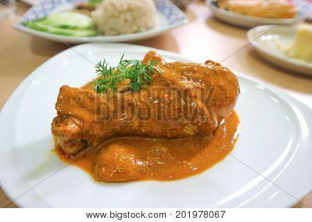 muslim curry with chicken , chicken curry