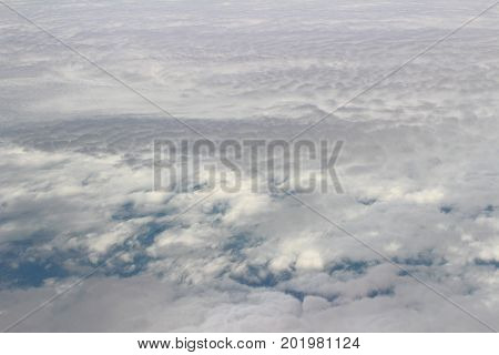 Cloud And Sky View From A Airplane