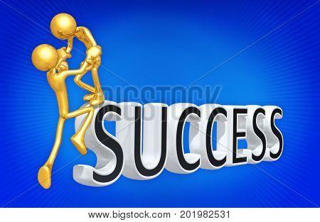 Success Help The Original 3D Characters Illustration