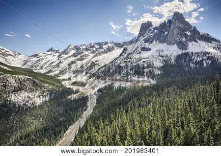 Overlook the Washington Pass in North Cascades National Park