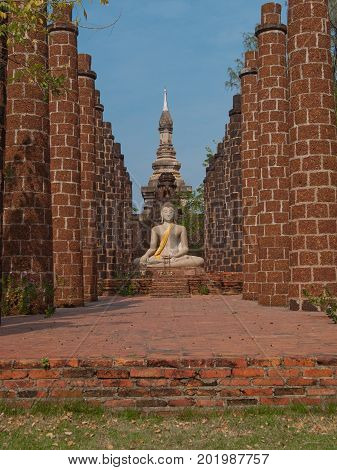 Religion and belief concept. Wat Phrasisanpetch in Ayutthaya Historical Park, Thailand