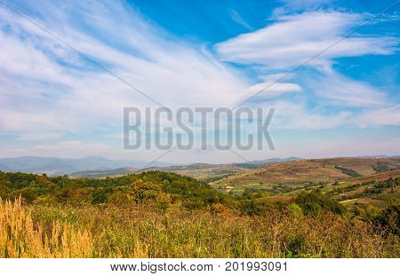 Fine Autumn Weather In Carpathian Countryside