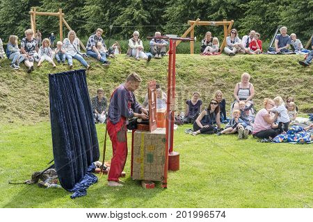 Actor Performing An Outdoor Show
