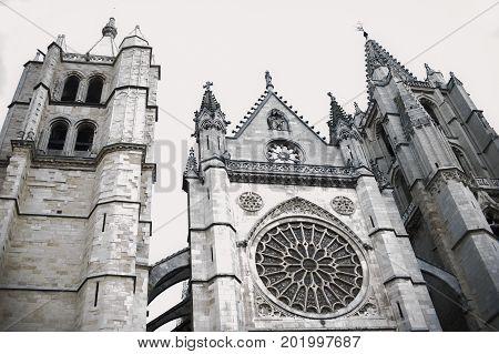Gothic Cathedral of Leon Castilla Leon Spain