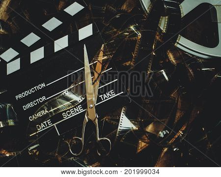 Vintage Movie Background Concept Editing And Final Cut