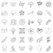 Zoology icons set. Outline style of 36 zoology vector icons for web isolated on white background poster