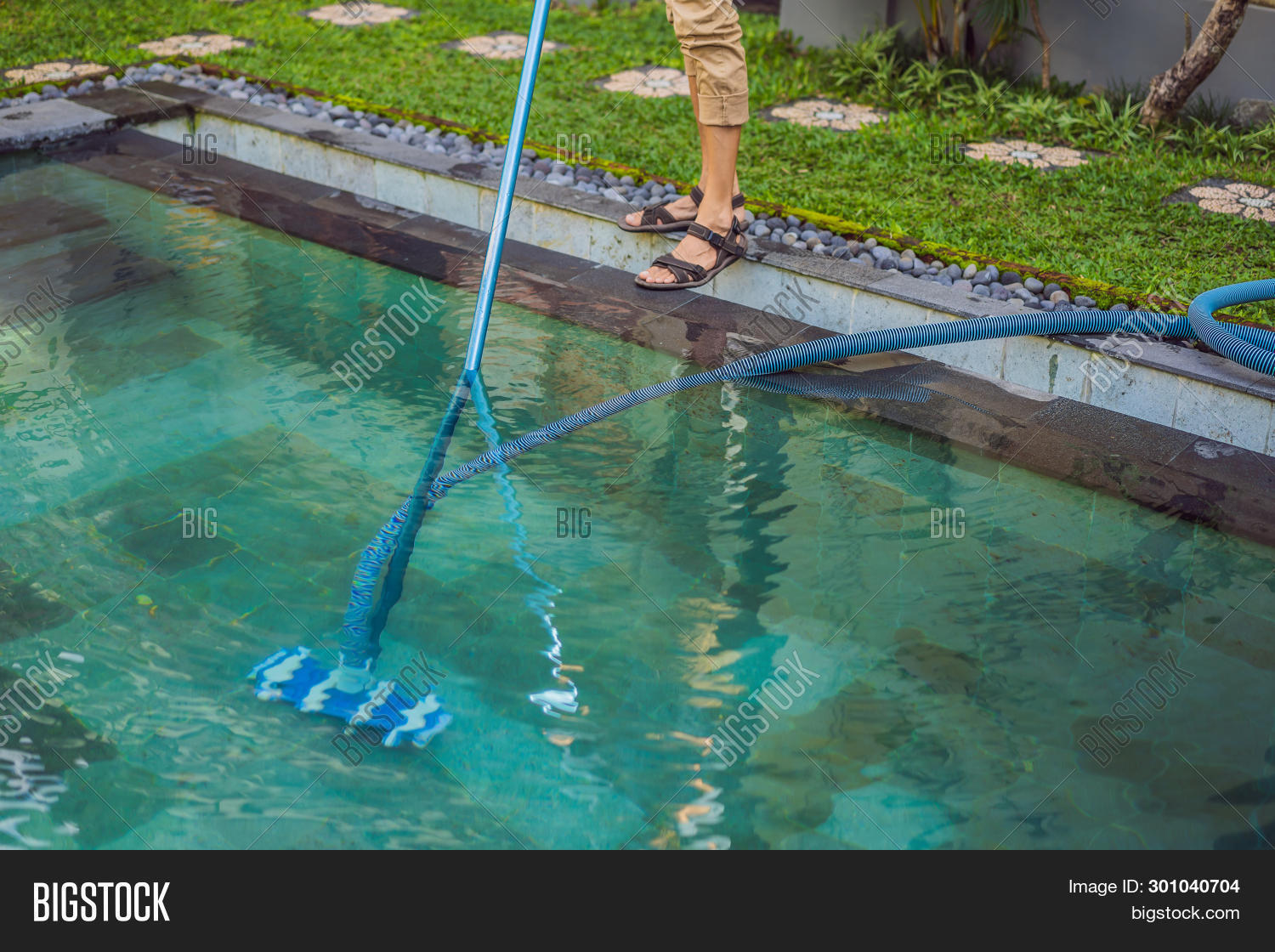 Cleaner Swimming Pool Image & Photo (Free Trial) | Bigstock