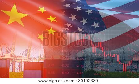 Usa And China Trade War Economy Conflict Tax Business Finance Money / United States Raised Taxes On