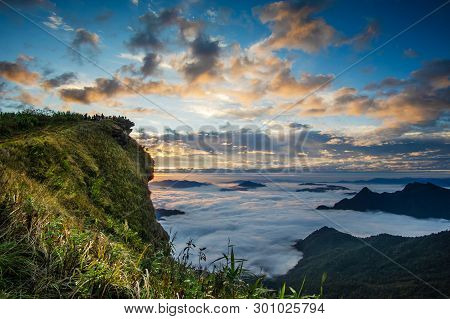Mountain At Phucheefa,chiangrai Province ,north Of Thailand.