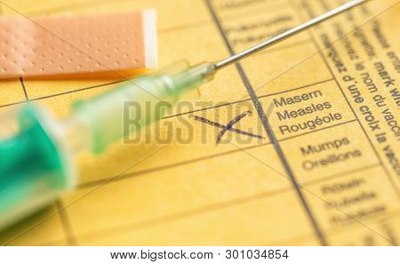 International Certificate Of Vaccination - Measles Vaccination