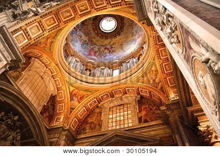 Saint Peter's Interior, Rome