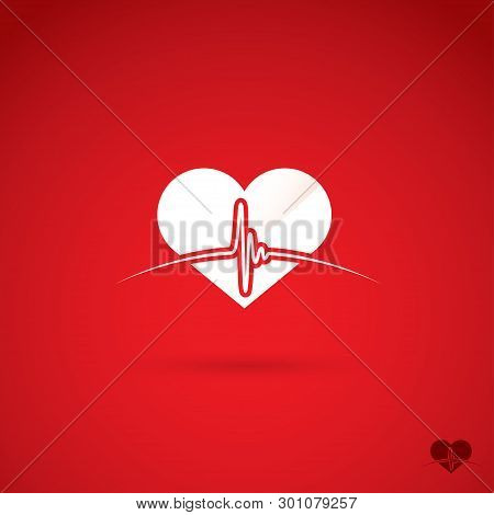 Heartbeat Symbol - Vector Illustration - Vector