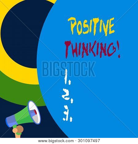 Handwriting Text Writing Positive Thinking. Concept Meaning Mental Attitude In Wich You Expect Favor