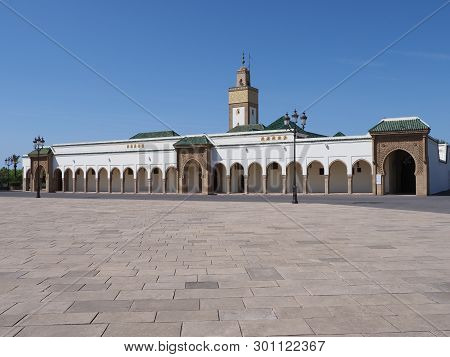Scenic Ahl Fas Mosque Near Royal Palace In Capital City Of Rabat In Morocco With Clear Blue Sky In 2