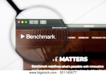 Richmond, Virginia, Usa - 9 May 2019: Illustrative Editorial Of Benchmark Electronics Inc Website Ho