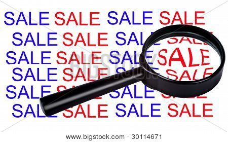 Sale in magnifier