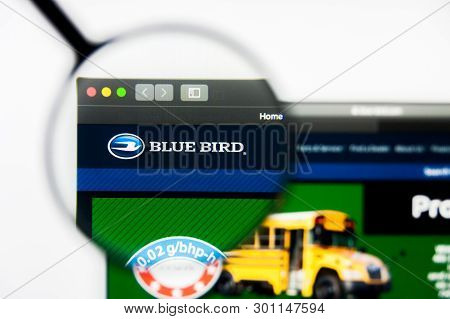 Richmond, Virginia, Usa - 9 May 2019: Illustrative Editorial Of Blue Bird Corporation Website Homepa