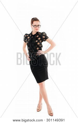 Business First. Successful Business Lady. Business Woman In Elegant Formal Style. Pretty Woman Weari