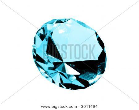 Isolated Aquamarine Jewel