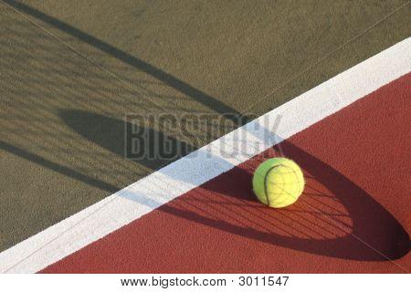 Tennis Ball Shadow Of Racket