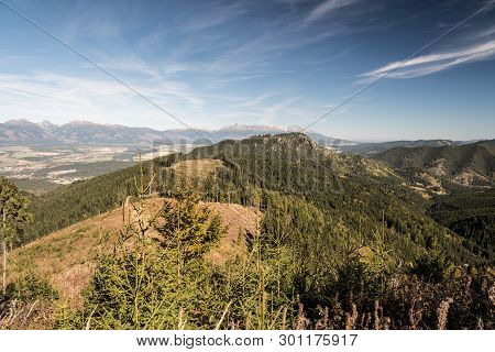 View From Mountain Glade Bellow Slema Hill In Autumn Nizke Tatry Mountains In Slovakia With Hills Of