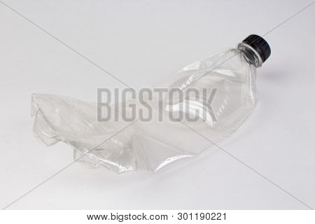Plastic Bottles Isolated On White Background. The Concept Of Recycling Plastic.