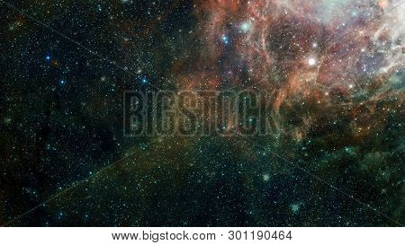 Dreamscape Galaxy. Elements Of This Image Furnished By Nasa