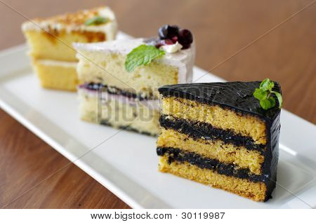 3 Piece of Sweets Cake
