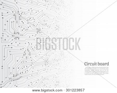 Abstract 3d Circuit Board. Futuristic Vector Illustration. High-tech Technology Abstract Background.