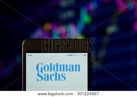 Goldman Sachs Logo Seen Displayed On Smart Phone