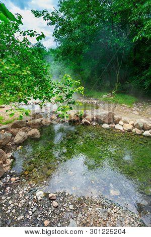 Hot Springs Tha Pai In Mae Hong Son; Thailand