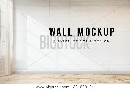 Empty room with a white wall mockup