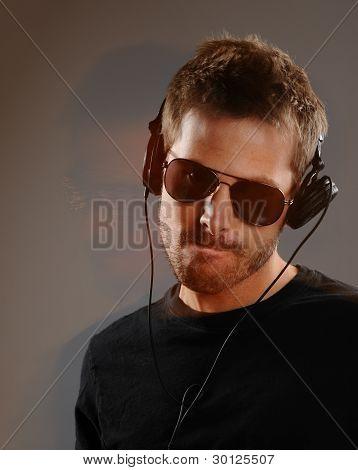 Moving Dj With Headphones