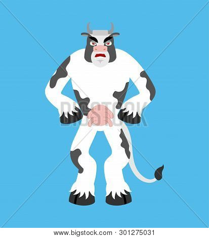 Cow Angry  Farm Vector & Photo (Free Trial) | Bigstock