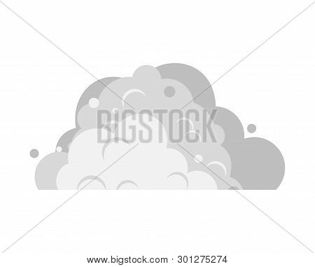 Dirty Snowdrift Isolated. Gray Pile Of Snow. Vector Illustration