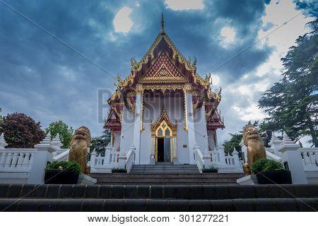 Buddhapadipa Buddhist Temple In Wimbledon, London, England, United Kingdom.