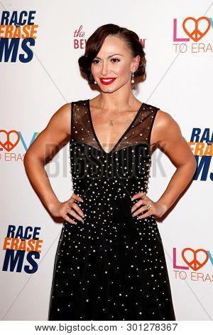 LOS ANGELES - MAY 10:  Karina Smirnoff at the Race to Erase MS Gala at the Beverly Hilton Hotel on May 10, 2019 in Beverly Hills, CA