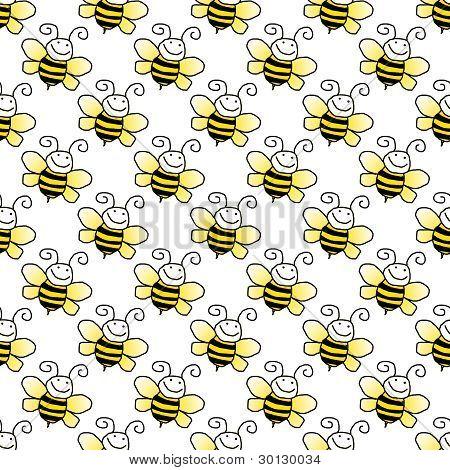 Seamless Bumblebee Background Wallpaper