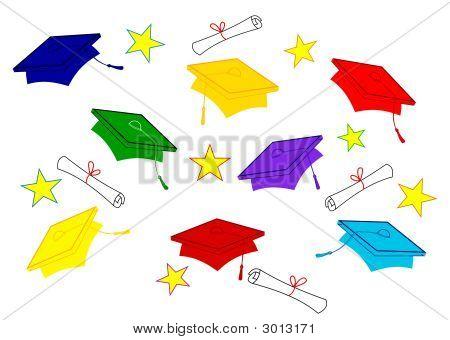Graduate Caps And Diplomas