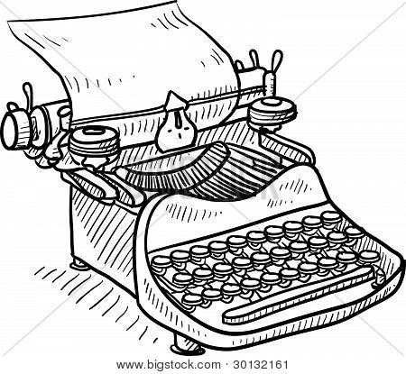 Retro manual typewriter